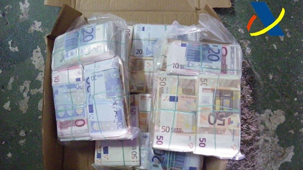 Dinero incautado dentro de la Operación Zebra