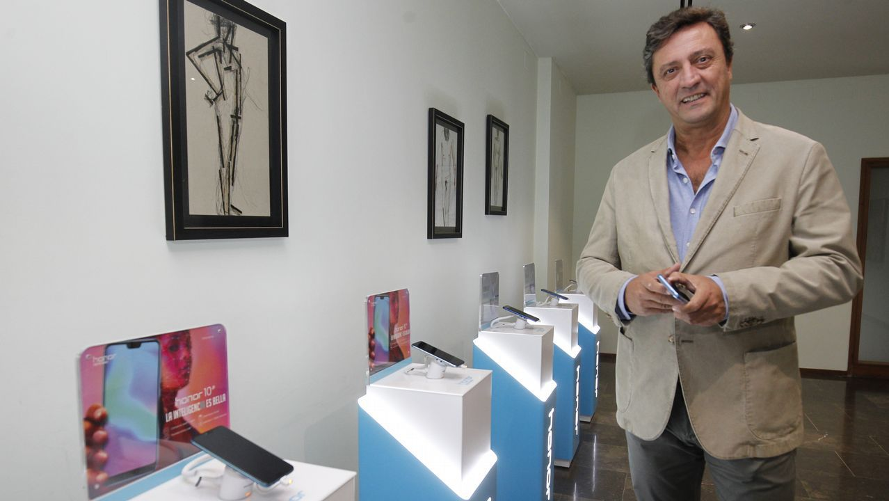 Javier Palacios, director de Márketing de Honor para Europa occidental, ayer en Santiago