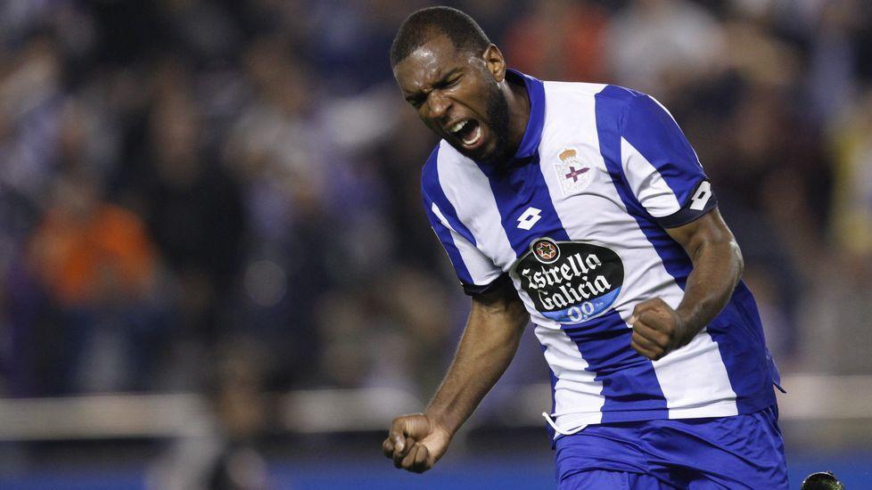 El Deportivo-Sporting de Gijón, en fotos.Borja Domingo, durante el partido contra el Choco