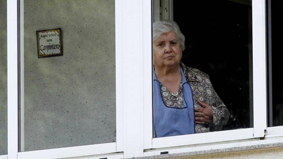 La madre de Teresa, en casa horas antes del anunciod