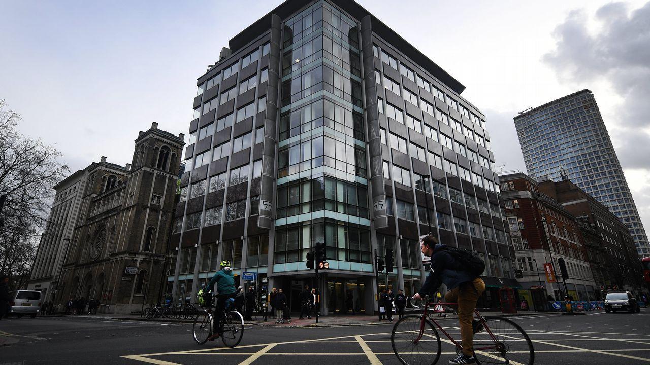 Vista exterior de la sede de la consultora británica Cambridge Analytica en Londres