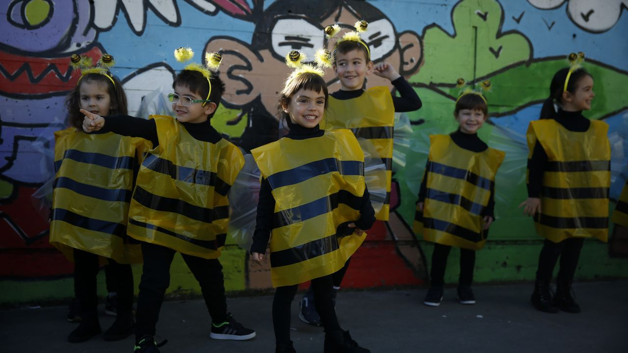 Carnaval en el colegio Ponte Pasaxe de Fonteculler.