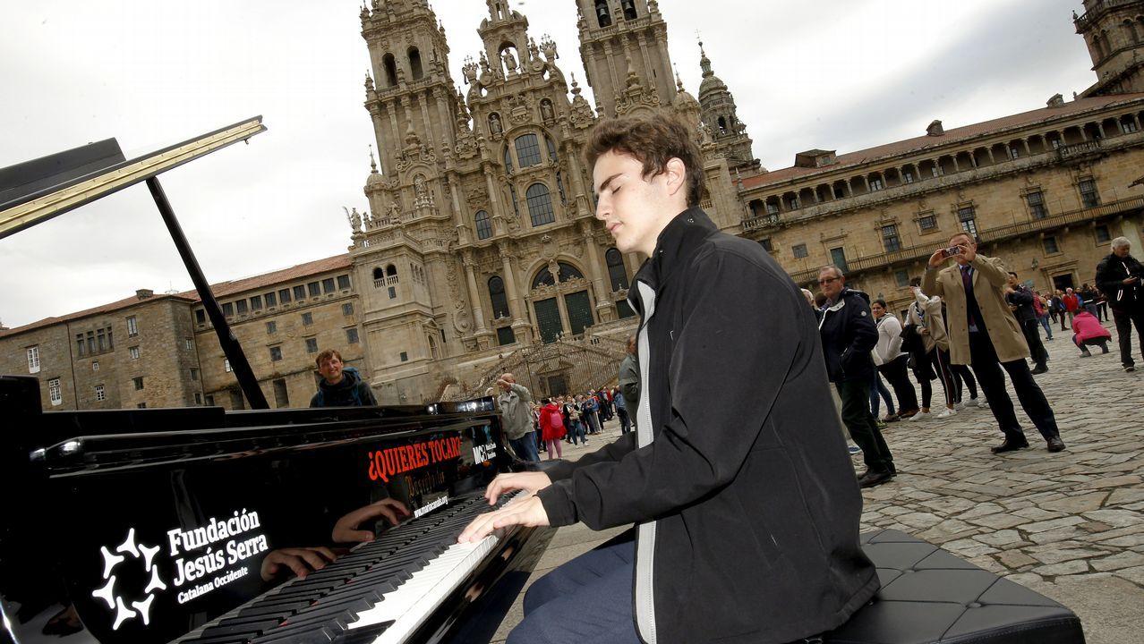 Siete pianos a disposición de todos en el casco histórico de Santiago