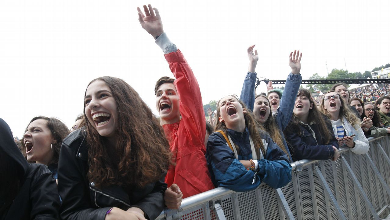 Actuación de The Killers, el cabeza de cartel de la primera jornada del festival