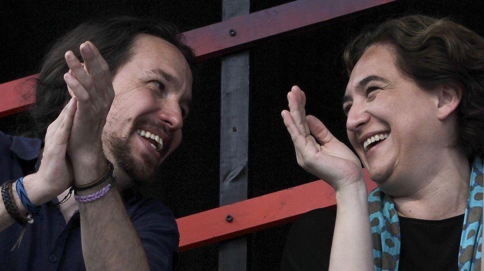 Primer gran acto de campaña de Unidos Podemos.