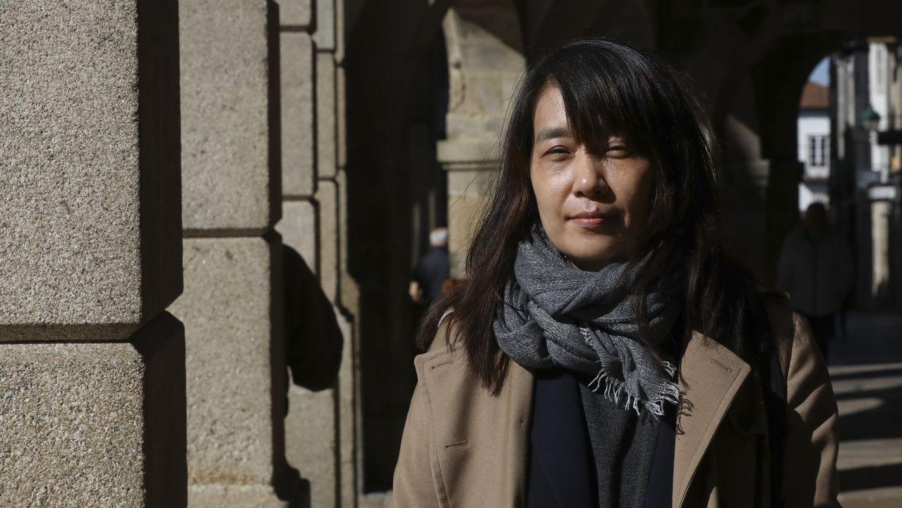 Han Kang (Gwangju, 1970) publicó en España su novela «La vegetariana» en Rata Editorial. En la foto, la autora en Santiago