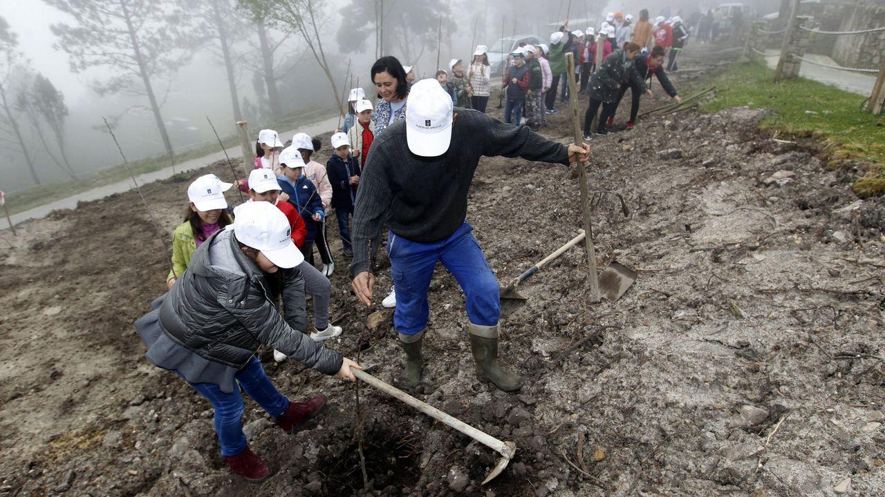 Tres nuevos embalses a un paso de Galicia.Trabajadores de Alcoa de Avilés