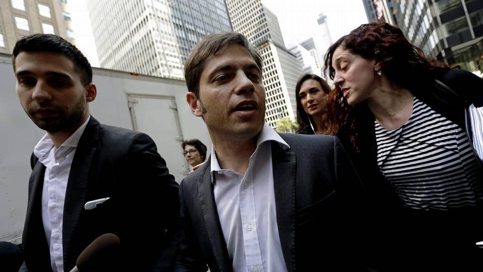 El ministro de Economía de Argentina, Axel Kicillof, llega a una reunión de mediación en Nueva York.