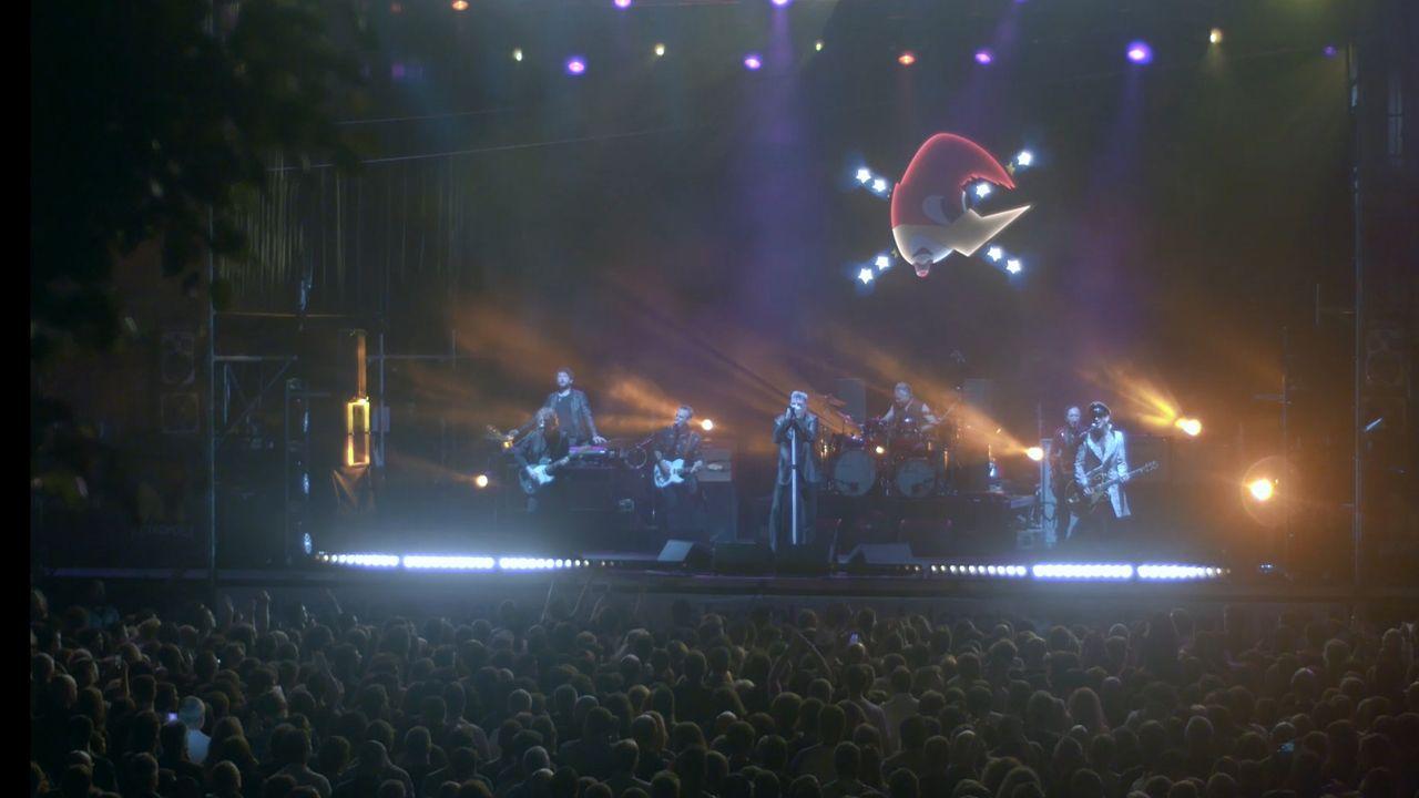 Loquillo durante su actuación en el festival Metrópoli de Gijón