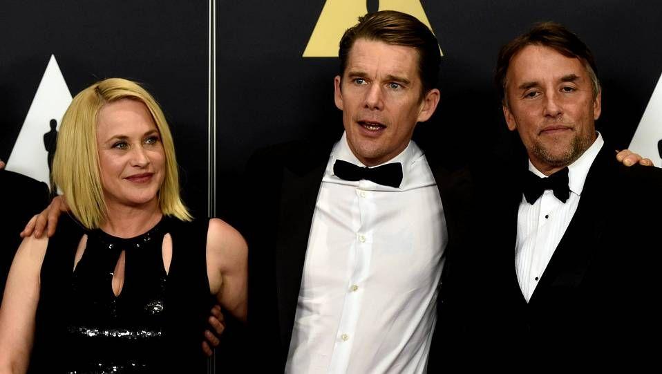 Patricia Arquette, Ethan Hawke y el director Richard Linklater, en una imagen de archivo.