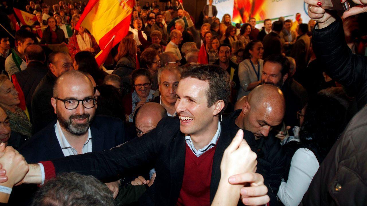 Pablo Casado eclipsó la campaña del candidato Juanma Moreno