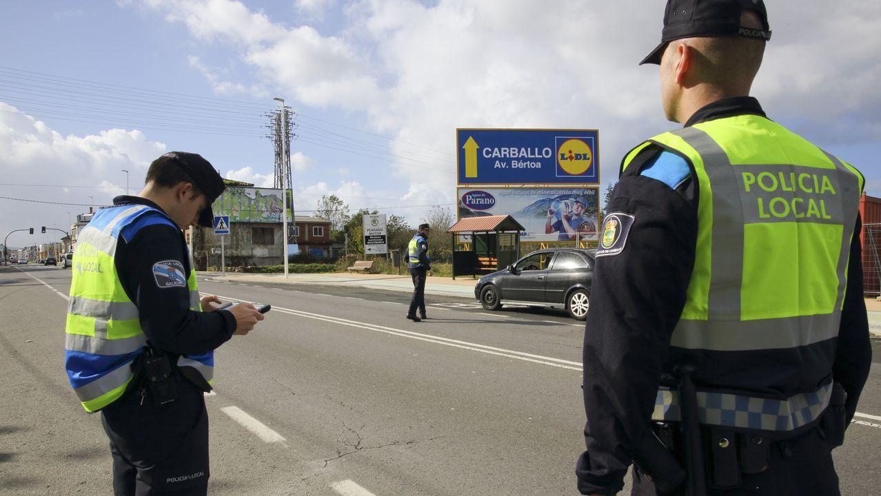 Así fueron las detenciones de los narcos de Pontevedra.Agentes de la Policía Local de Oviedo