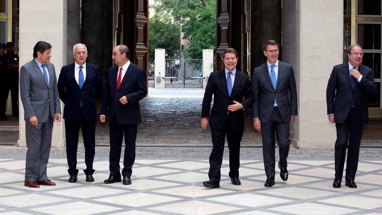 Así es el nuevo Gobierno de Feijoo.El presidente Feijoo, ayer en la rueda de prensa posterior al Consello da Xunta