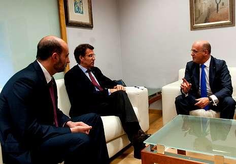 Ferro y Baltar Blanco en la reunión con Alberto Núñez Feijoo.