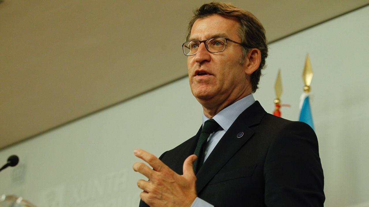Feijoo.Alberto Núñez Feijóo participó en Santiago en un acto de entrega de certificados de experiencia profesional