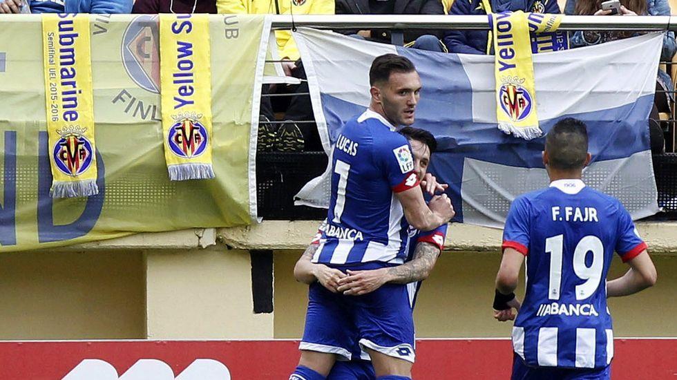 El Villarreal-Deportivo, en fotos.