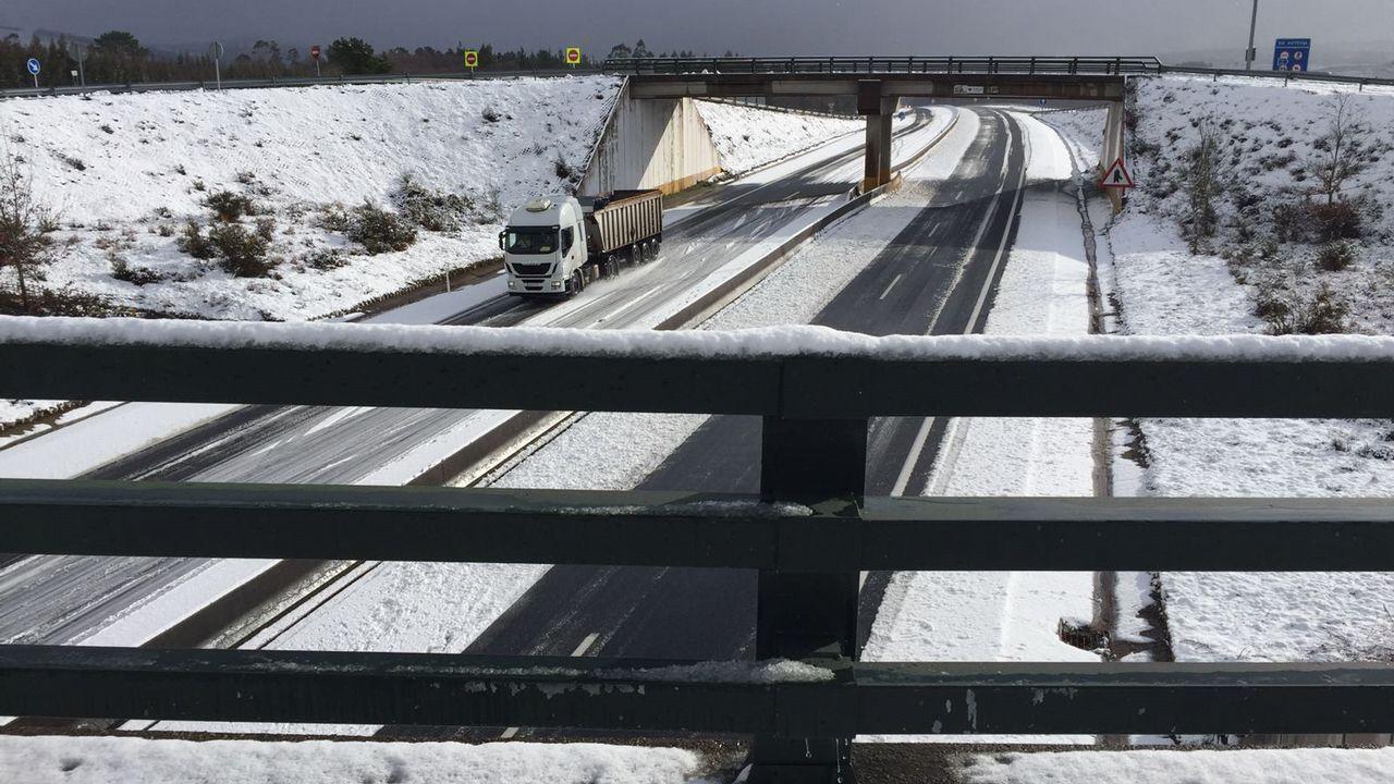 Nieve en As Pontes