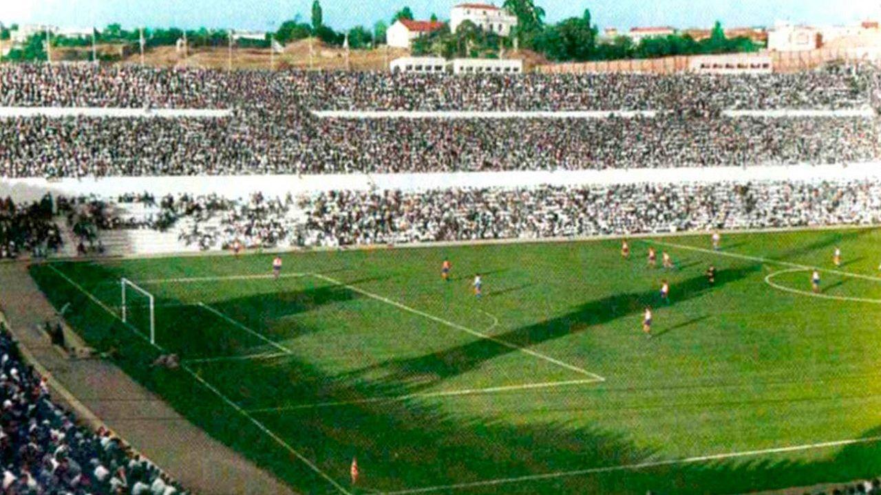 Metropolitano Atletico de Madrid.El antiguo Estadio Metropolitano