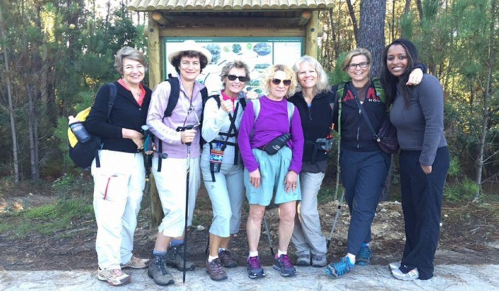 Una imagen de las peregrinas tras una de las caminatas.
