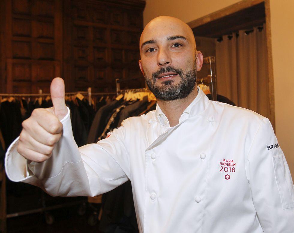 Manuel Domínguez, tras recoger su estrella.