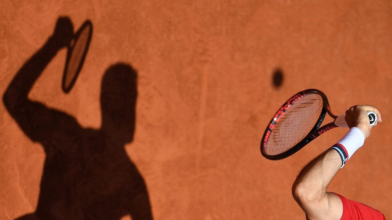 .Un momento del partido de Roland Garros entre Juan Martin del Potro y Marin Cilic