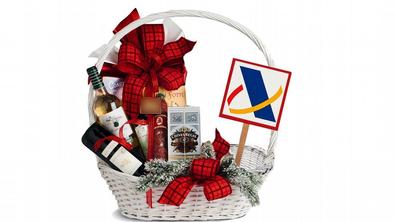 Si le toca una cesta de Navidad, tiene que pagar a Hacienda