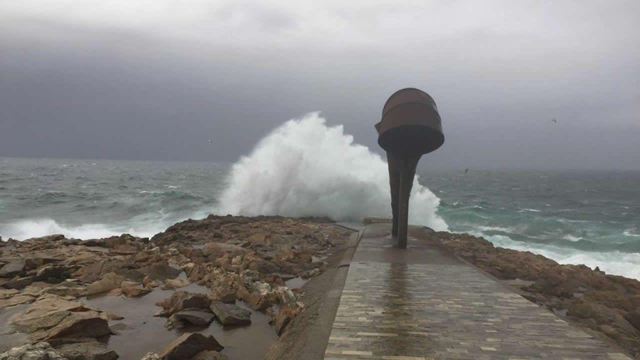 Así está el mar en Punta Herminia