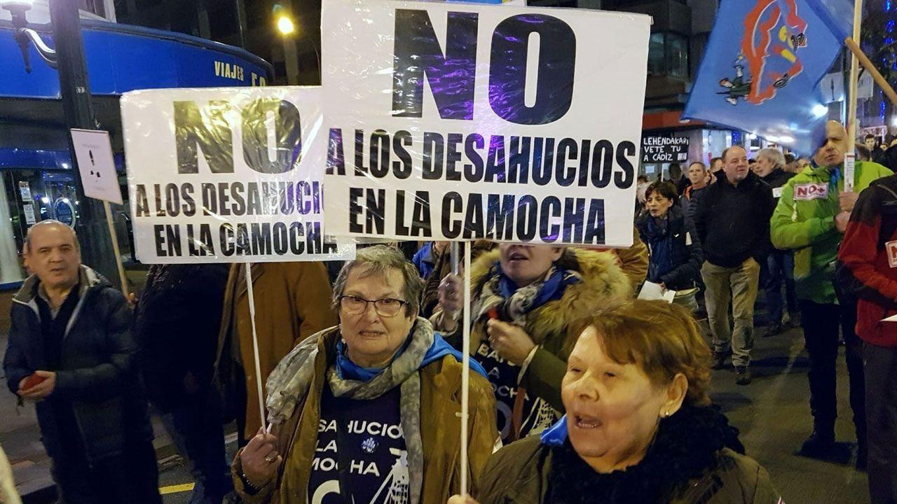 En la manifestación 'La Naval no se cierra', en Bilbao