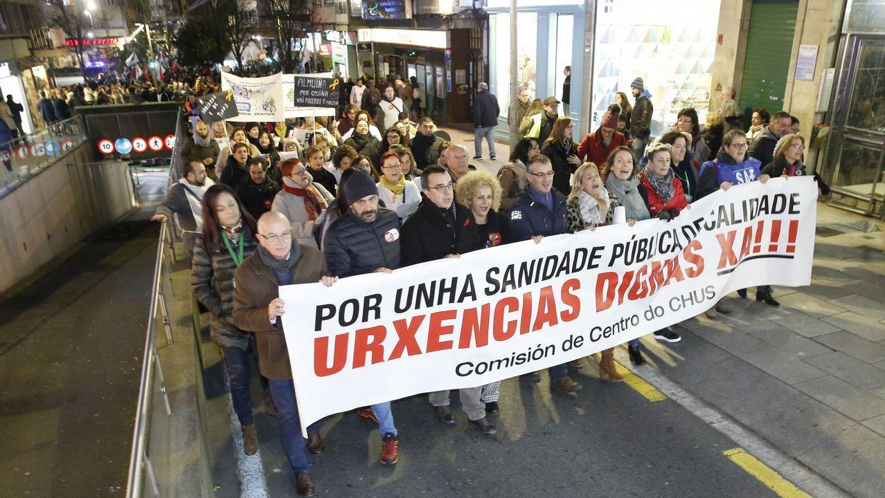 Feijoo, durante la presentación de los candidatos a las siete ciudades gallegas, el sábado en Santiago