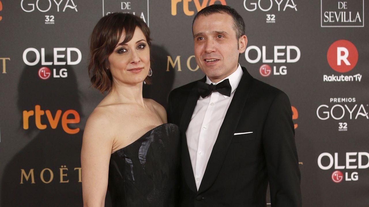 .La actriz Nathalie Poza y Lino Escalera
