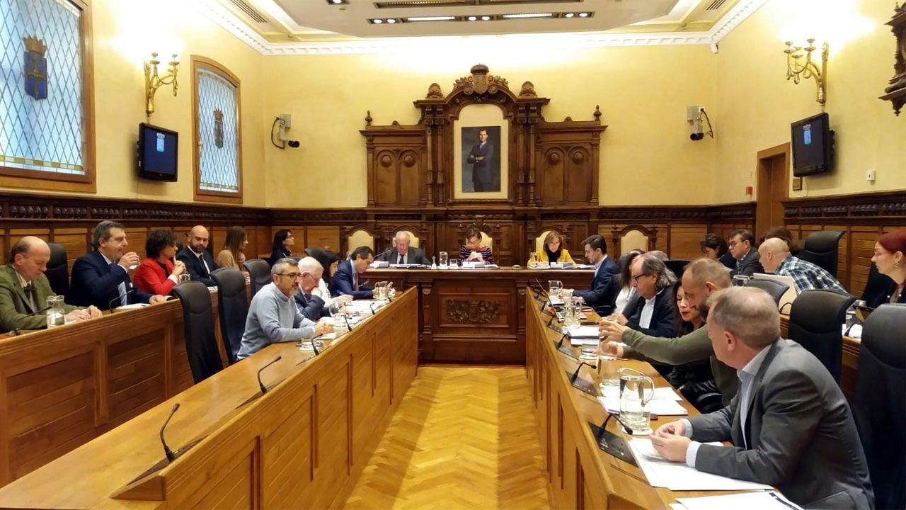 Pleno de la corporación municipal de Gijón