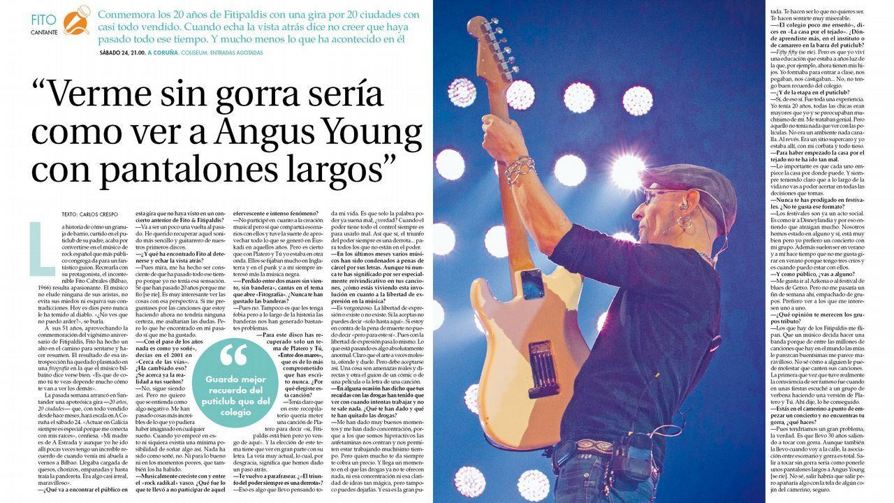 Fito presenta en Fugas su próximo concierto en A Coruña