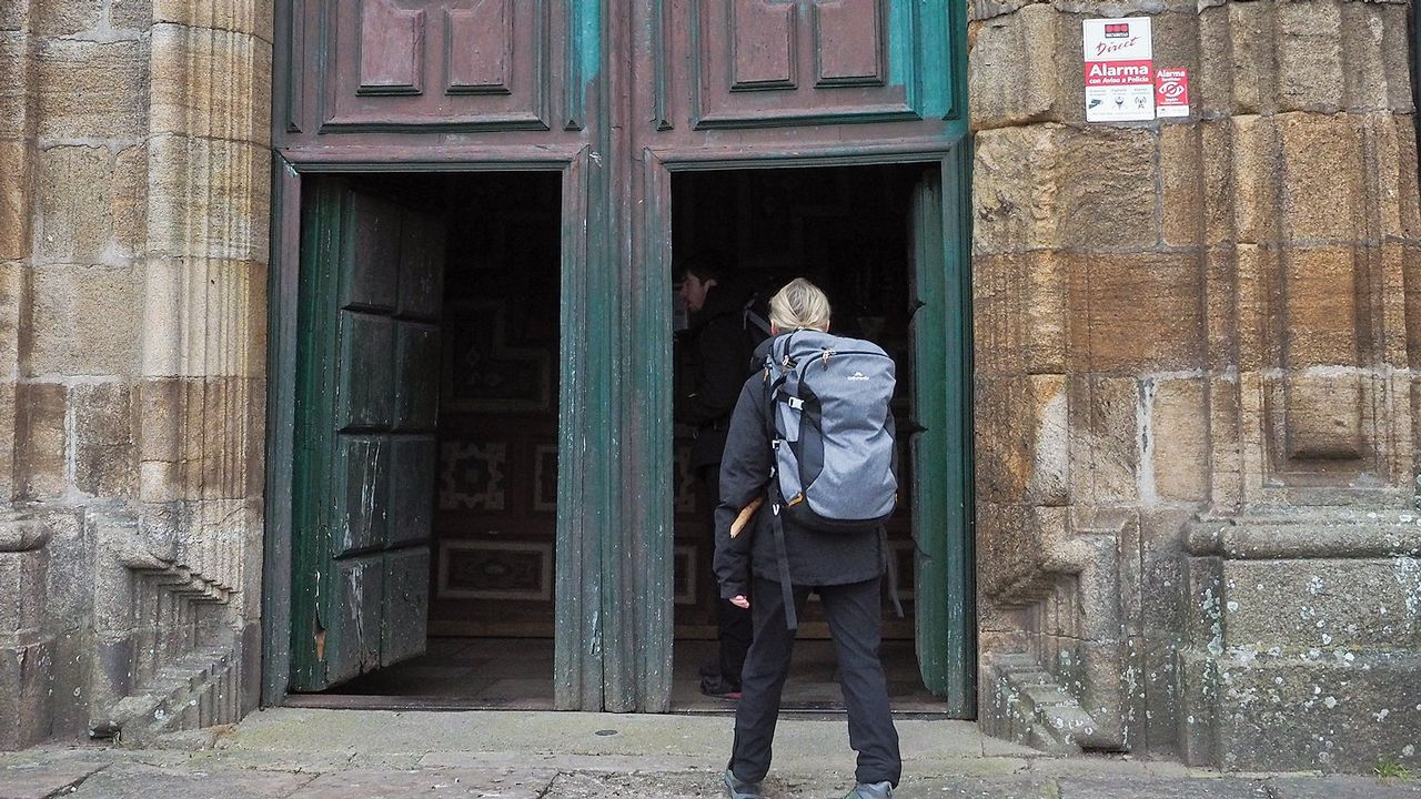 Imagen de archivo durante la rehabilitación de la rectoral de Olives
