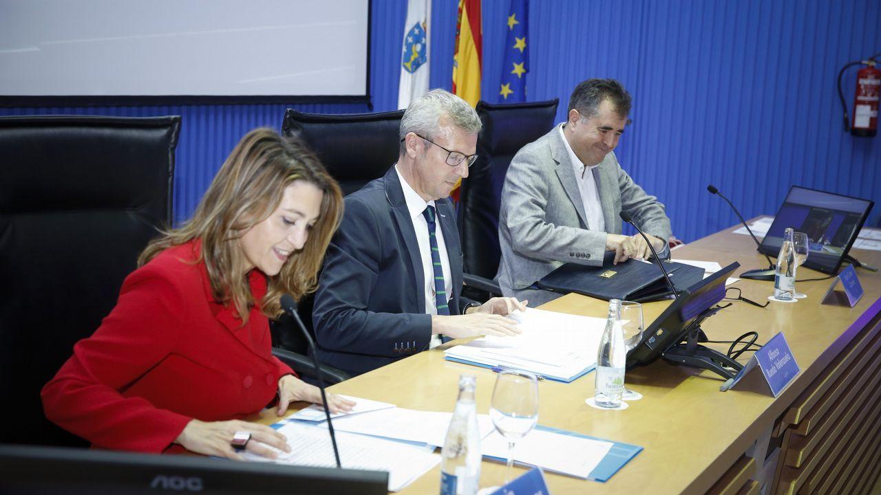 Alfonso Rueda en un acto en la EGAP