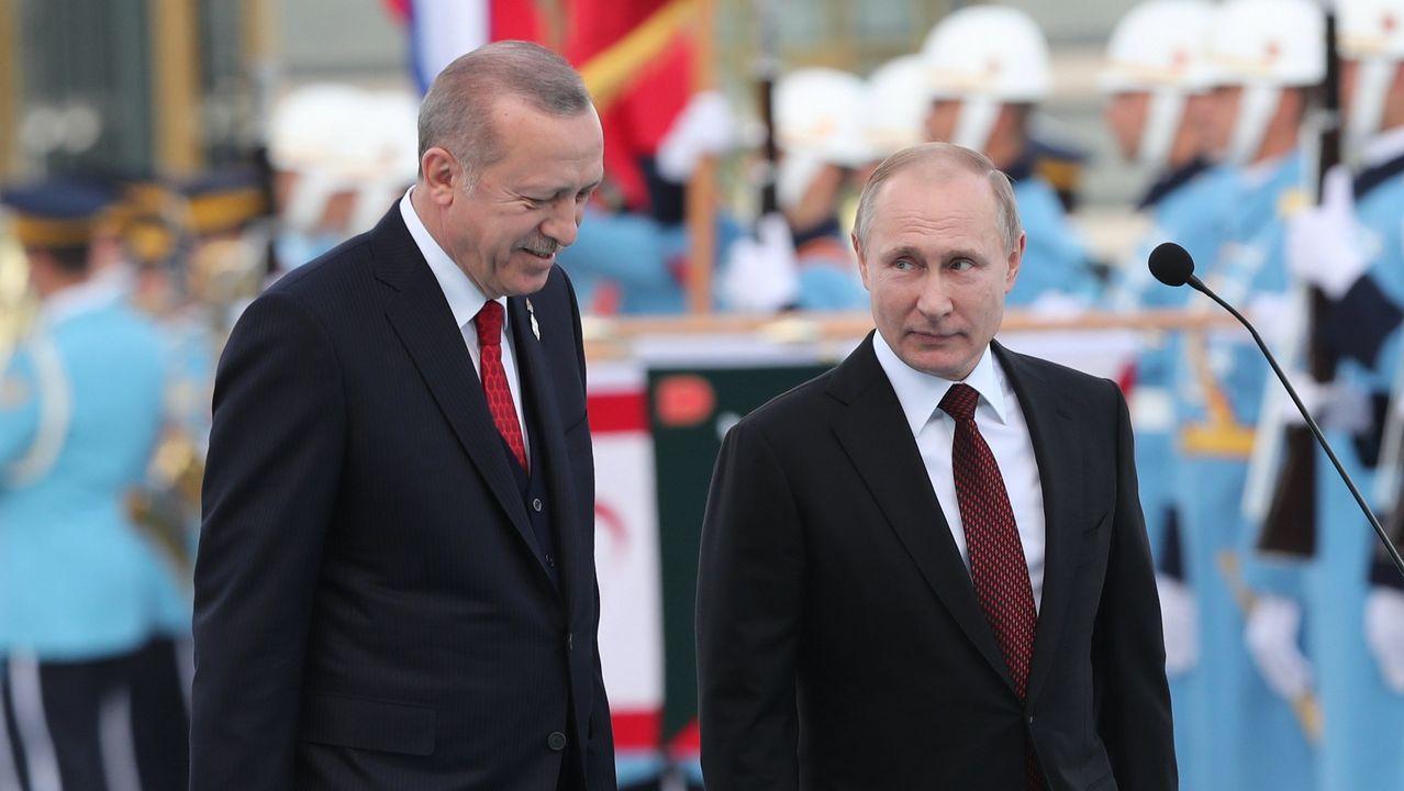 Asi quedó la casa tras el impacto del petrolero.Rohaní, Erdogan y Putin se reunieron en la capital turca para tratar el conflicto sirio