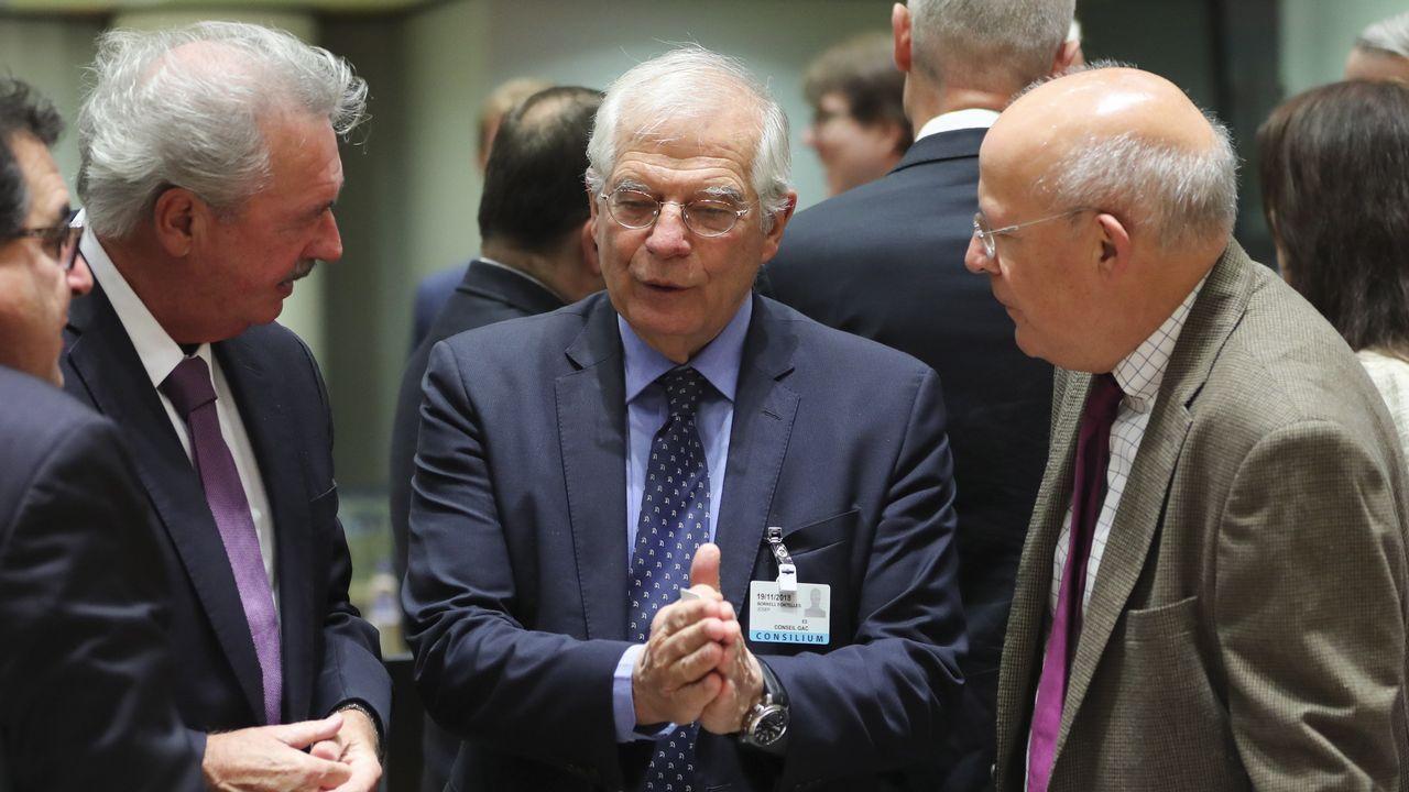 Josep Borrell, hoy en Bruselas