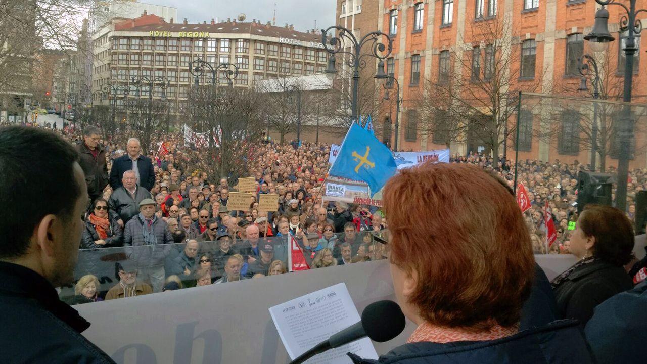 Manifestación por las pensiones en Gijón