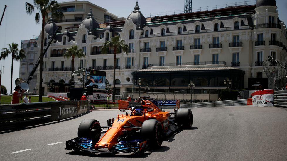 .Fernando Alonso, en el circuito de Mónaco