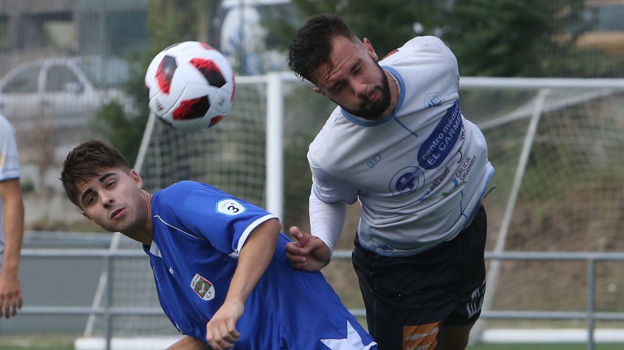 ¡Mira en imágenes el duelo del Laracha contra el Ourense CF!