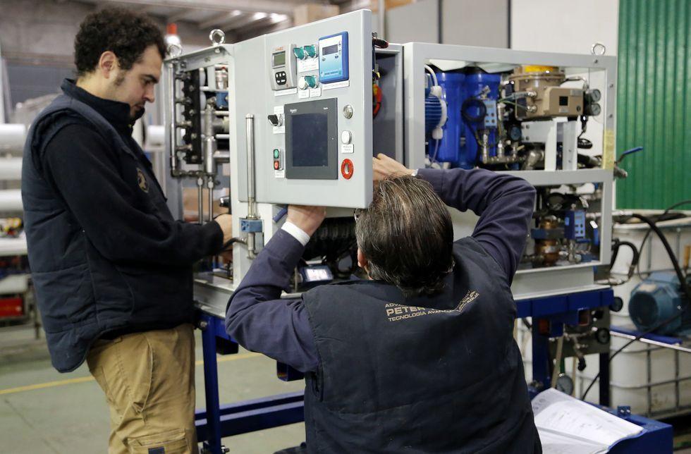 Una de las máquinas que se va a instalar en un submarino de la OTAN.