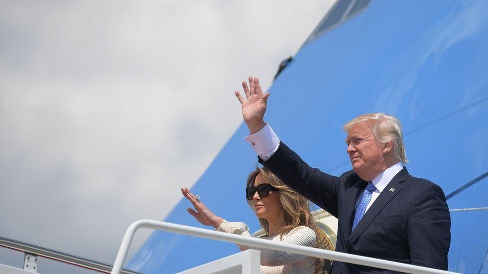 Trump anuncia que EE.UU. se retira del Acuerdo de París.Melania Trump