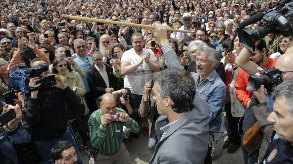 La proclamación de Xulio Ferreiro en A Coruña, en fotos