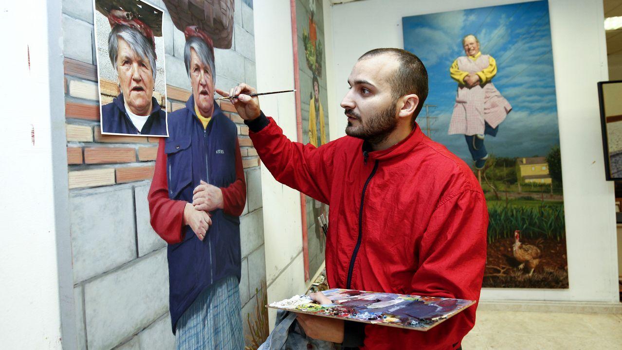 El pintor de las superabuelas gallegas