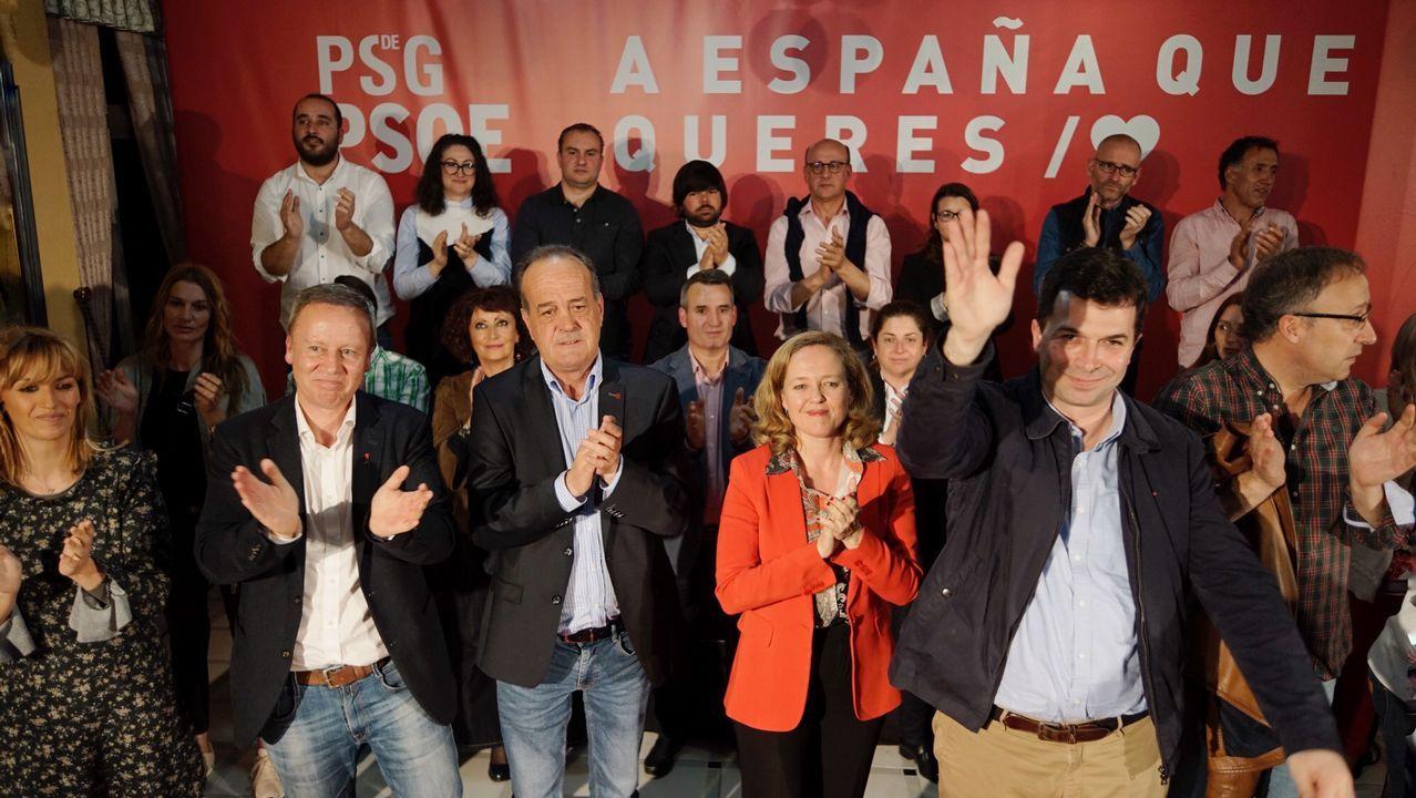 El PSOE trata de reactivarse con un mitin de Adriana Lastra.Imagen de archivo durante la rehabilitación de la rectoral de Olives