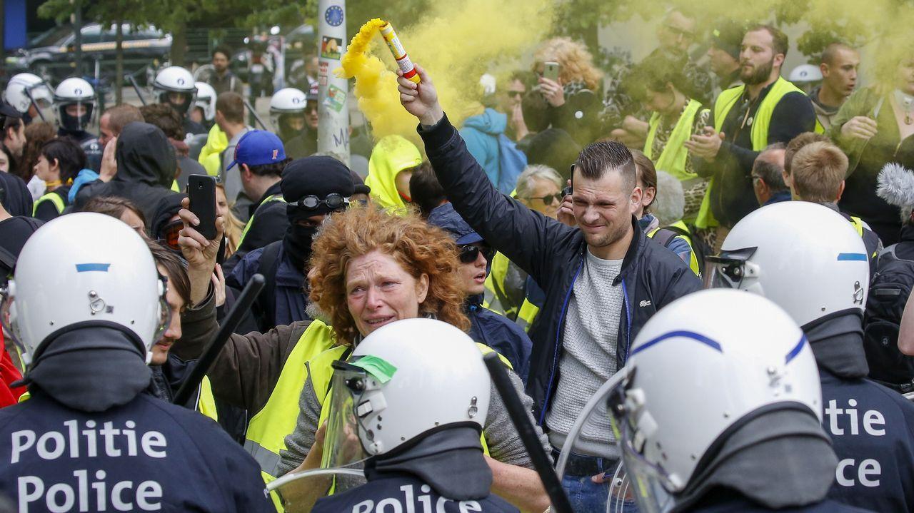 Arte y moda se dan la mano en el Thyssen.Varios centenares de «chalecos amarillos» participaron este domingo en una manifestación no autorizada en el centro de Bruselas organizada con motivo del triple escrutinio regional, federal y europeo en Bélgica