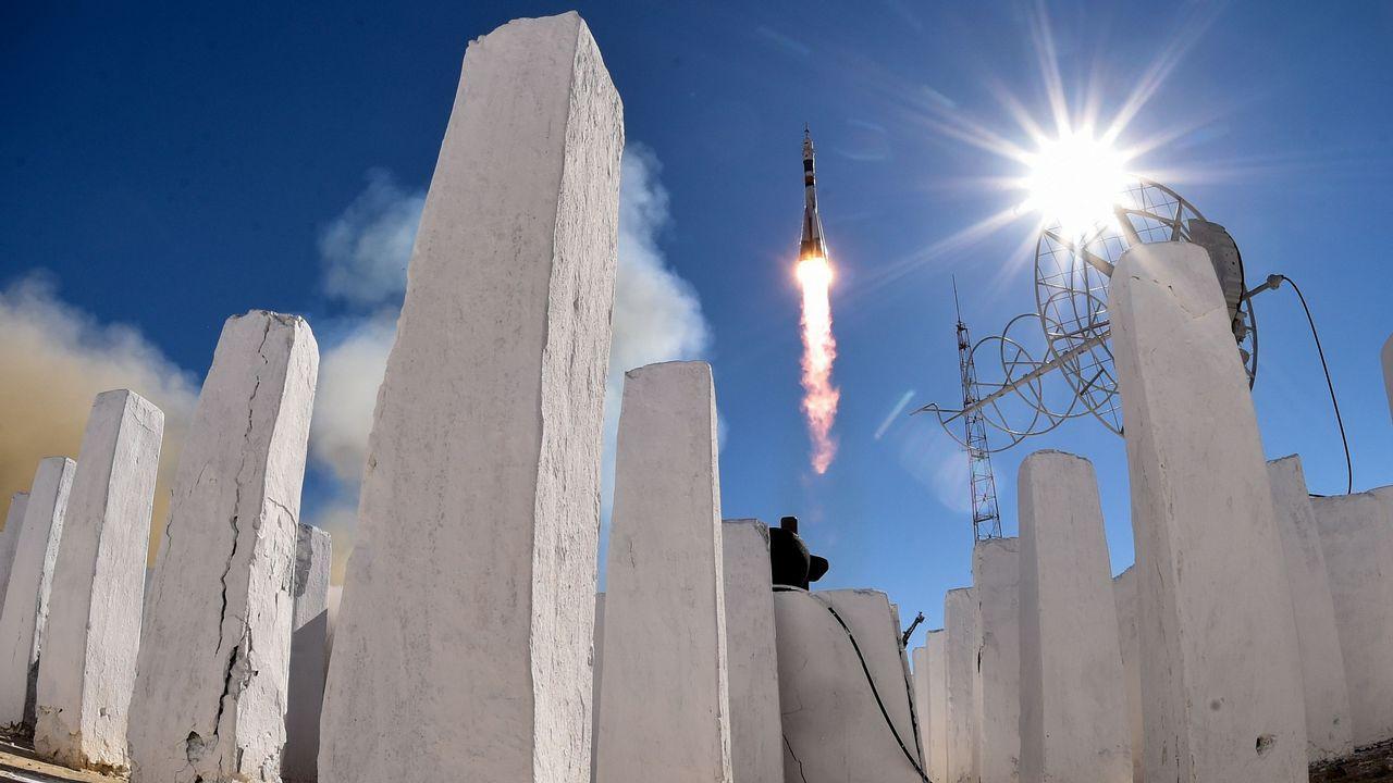 El cohete Soyuz, tras su despegue