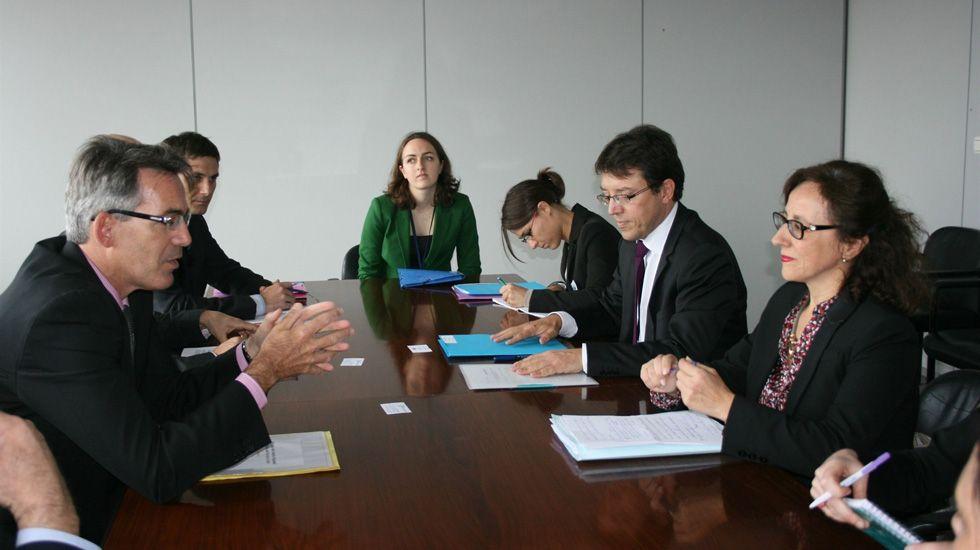 Olivier Onidi y Belén Fernández en Bruselas.Olivier Onidi y Belén Fernández en Bruselas