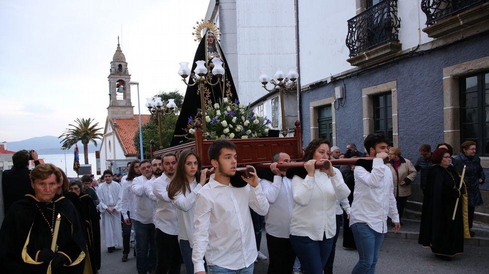 Procesión de Viernes de Dolores en Corme