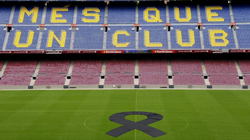 Homenaje en el Camp Nou a Tito Vilanova