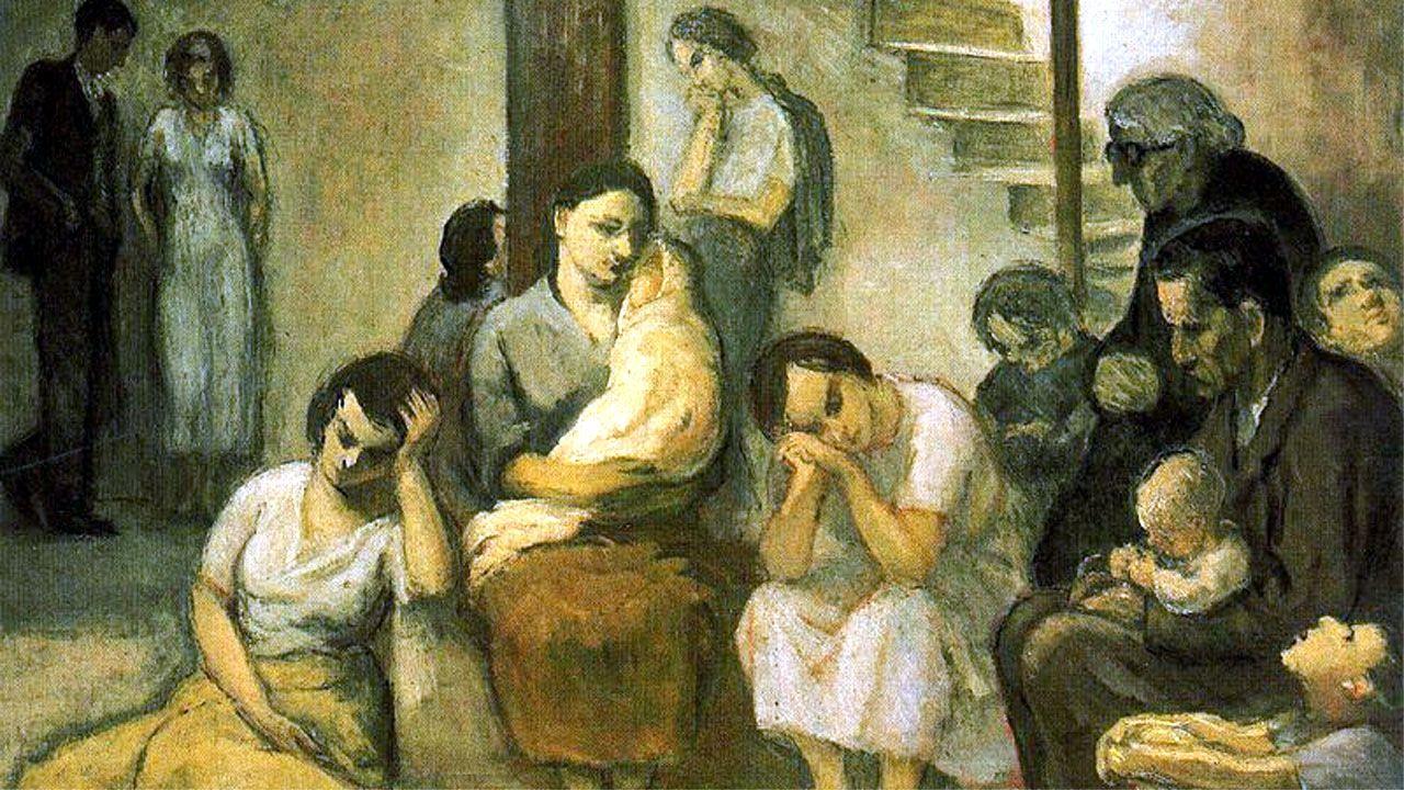 .«El refugio», cuadro de Nicanor Piñole
